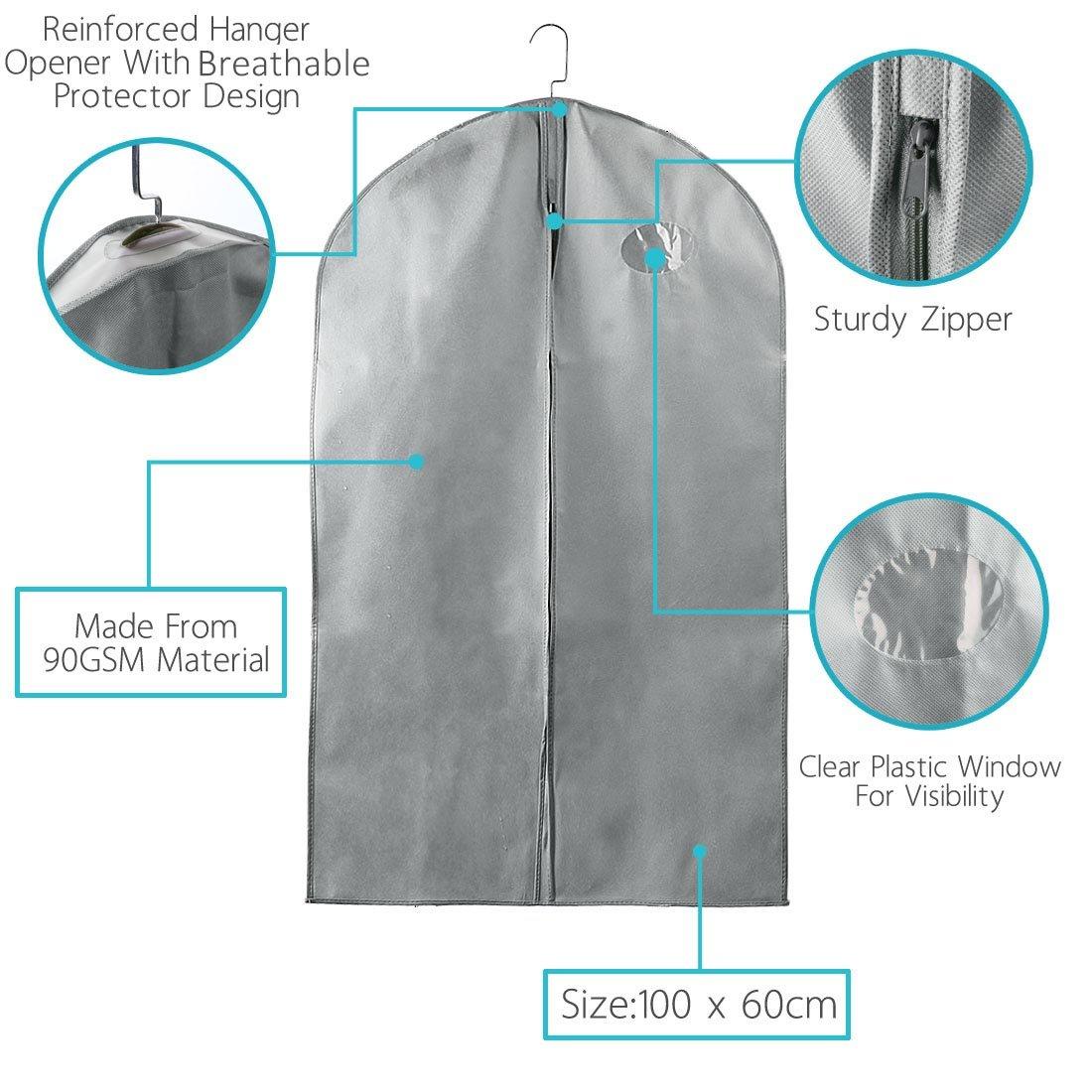 "3f847aefa050 uxcell 40/"" Garment Bag Suit Bag, Suit Travel Bag for Storage or ..."