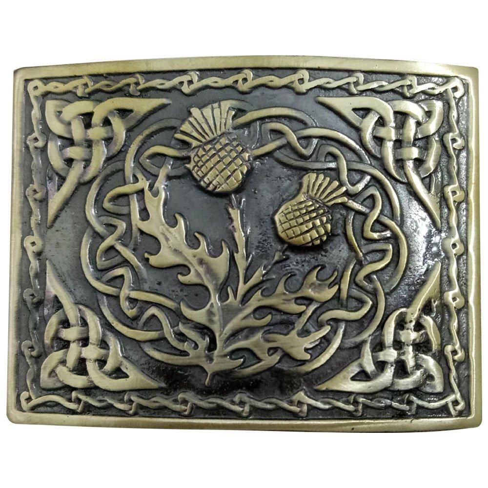 YONE Hebilla de cintur/ón Rectange Celtic Knot Belt Buckle