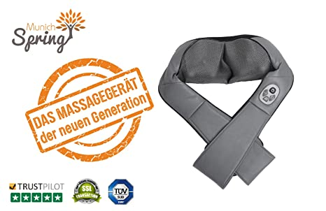 Nackenmassagegerät Optimus New Generation Munich Spring Shiatsu Wärmefunktion Massage