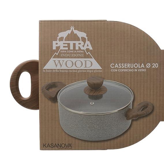 Petra Dura Come La Pietra.Saucepan With Coper Petra Wood 20 Cm Amazon Co Uk Kitchen Home
