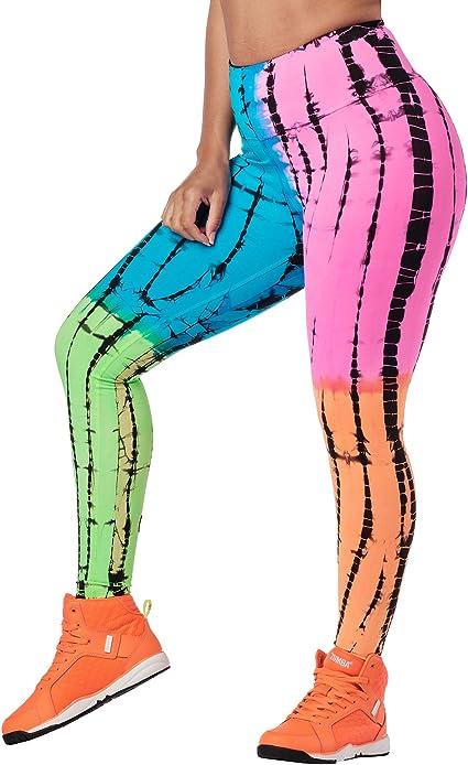 Zumba High Waisted Leggings for Women Dance Compression Butt Lift Workout Pants