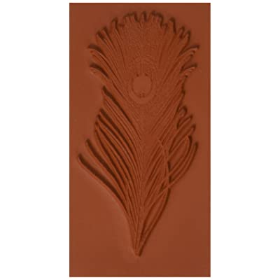 Deep Red Stamps Peacock Feather Rubber Stamp: Arts, Crafts & Sewing