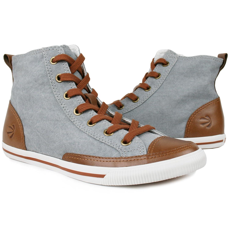 Burnetie Women's High Top Vintage Cotton Sneaker