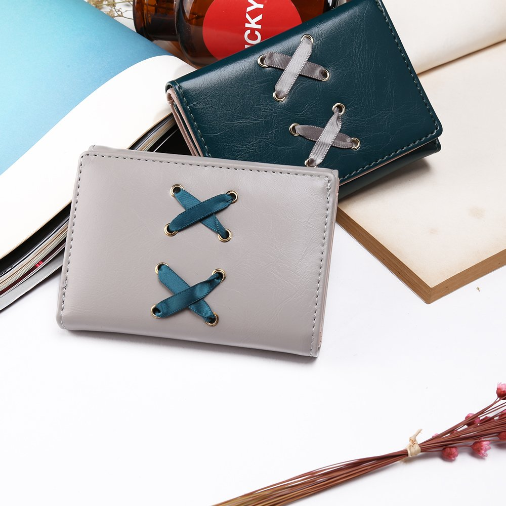 be0b8a4d2a45 Nico Louise Women Leather Tri-fold Wallet Lady Small Purse Female Card  Holders