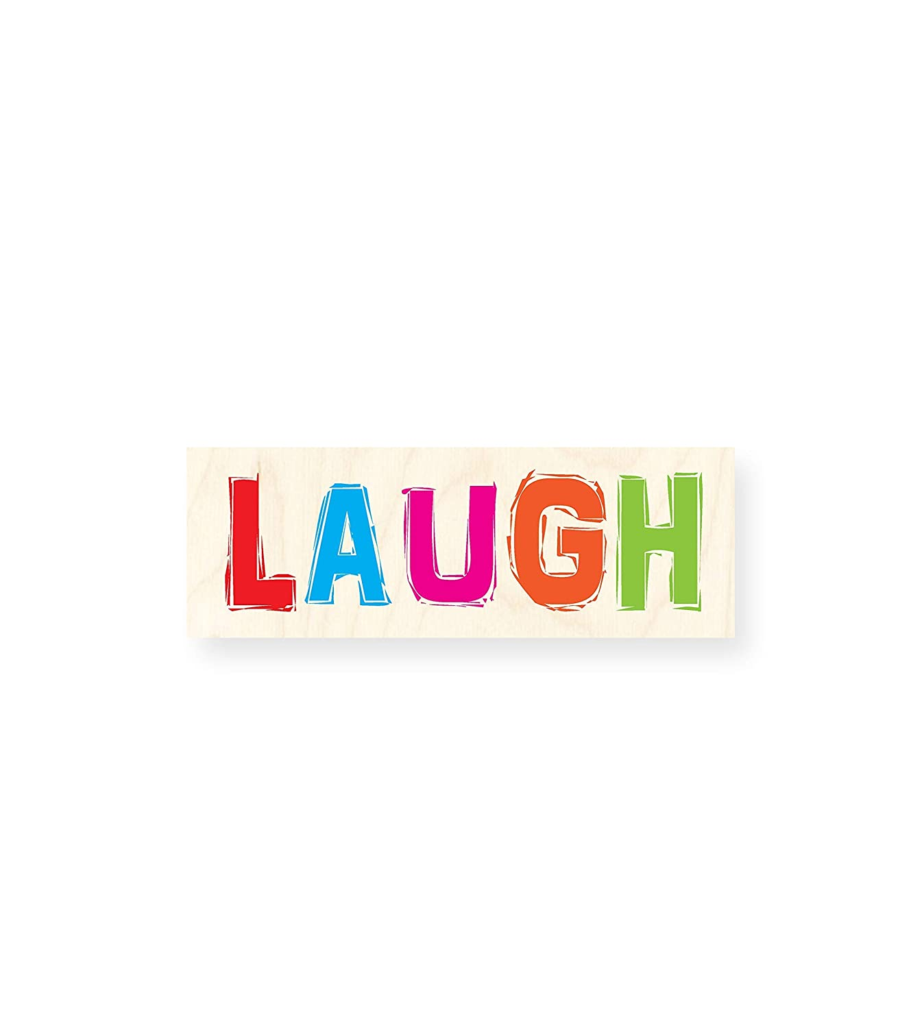 LAUGH | Tabla de Madera impresa - Autoadhesiva: Amazon.es ...