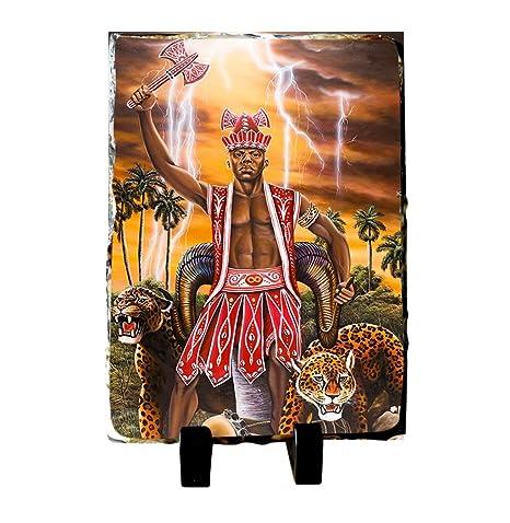 Amazon.com: CHANGO Santeria Deidades Yoruba Lucumi Placa de ...