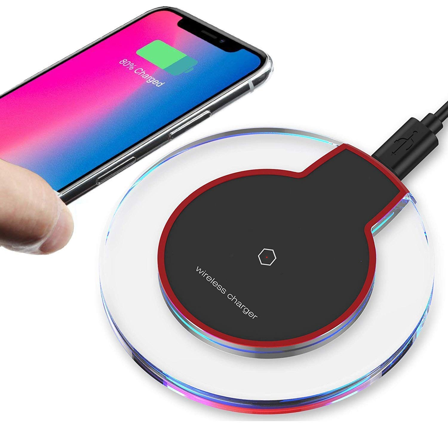 2019 Updated Wireless Charger Qi Wireless Charger Pad Compatible with ¡Phone Xs MAX XR X 8 8 Plus 7 7 Plus 6s 6s Plus 6 6 Plus and More DDCC010
