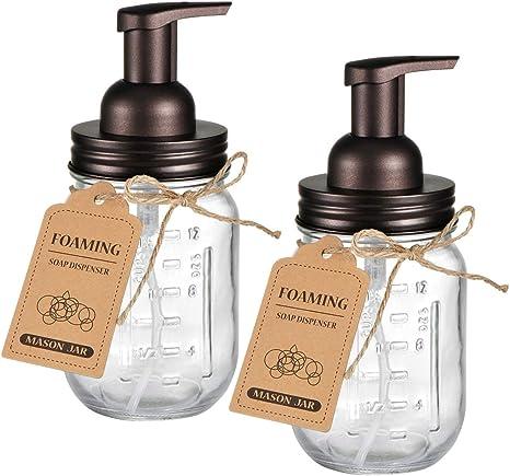Mason Jar Foaming Soap Dispenser Pump  Apothecary Holder Farmhouse Decor 16oz .