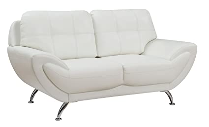 HOMES: Inside + Out IDF 6414WH LV Stinson Loveseat, White