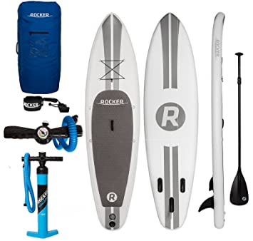 Tabla inflable de paddle surf iRocker, 305x76x15cm Conjunto SUP (Blanco)
