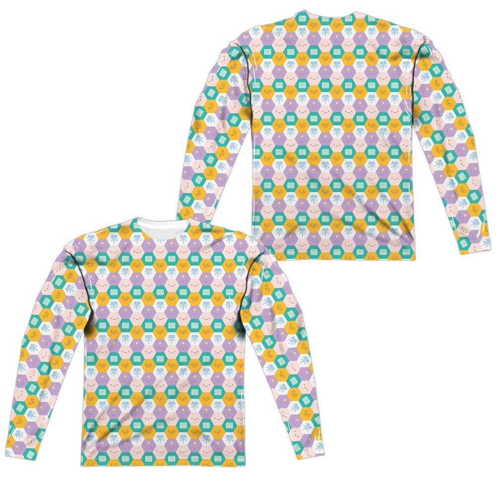 Hexagon Pattern Adult Long Sleeve T-Shirt Adventure Time