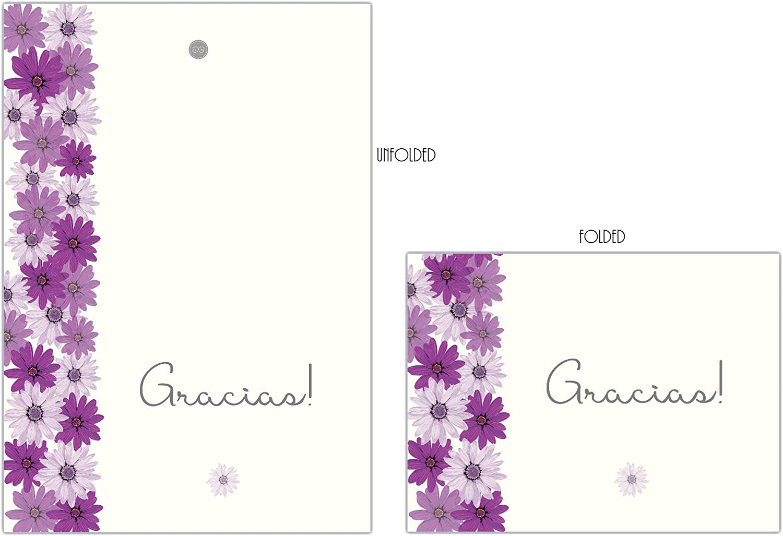 Juego de tarjetas de agradecimiento 6 cards 6 tarjetas Spanish Thank You Card Set