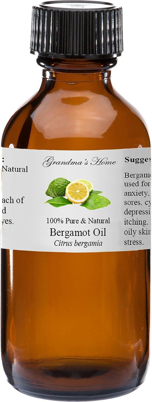 Bergamot Essential Oil - 2 fl oz -100% Pure and Natural - Therapeutic Grade - Grandma's Home