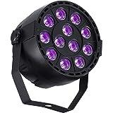 DeepDream 36W Black Light UV LED Lamp DJ Blacklights Ultraviolet Bulb Auto Lighting Voice Control For Party Stage Wedding Disco Club