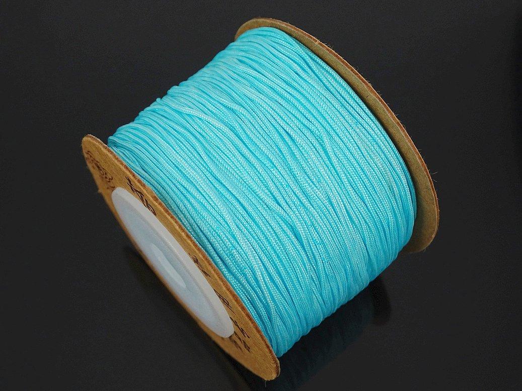 180 Meters for 1 Reel jennysun2010 0.8mm Chocolate Quality Satin Silk Nylon Braid Rattail Cord Knotting Thread Rope Beading Bracelet Necklace Jewelry Design Crafts