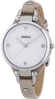 Fossil damen armbanduhr analog edelstahl quarz es3113