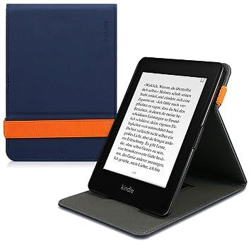 kwmobile Funda para Amazon Kindle Paperwhite - Carcasa con [Tapa Vertical] y [Soporte] para e-Book - Case Flip de [Cuero sintético]