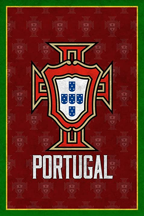 Amazon Portugal Soccer Retro National Team Sports Poster 12x18