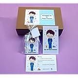Recuerdos y Regalos de Comunión Para Invitados - Kit Detalle de Primera Comunión Niño - Incluye 15 invitaciones con sobre…