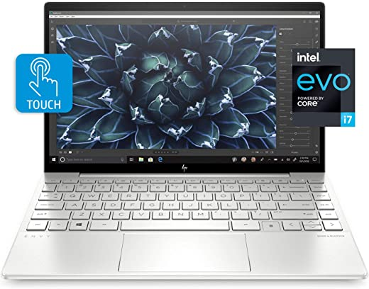 HP Envy 13 Laptop, Intel Core i7-1165G7, 8 GB DDR4 RAM, 256 GB SSD Storage, 13.3-inch FHD Touchscreen Display, Windows 10 Home with Fingerprint Reader, Camera Kill Switch (13-ba1010nr, 2020 Model)