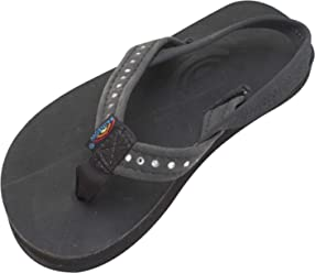 3adebd786 Rainbow Sandals Kid s Single Layer Premier Leather w Narrow Crystal Strap