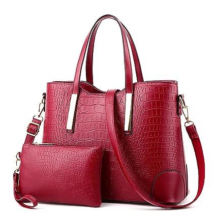 1d5995368f9e EssVita Sac à main femme en PU cuir pour femme Sac à bandoulière Vin Rouge   Amazon.fr  Bagages