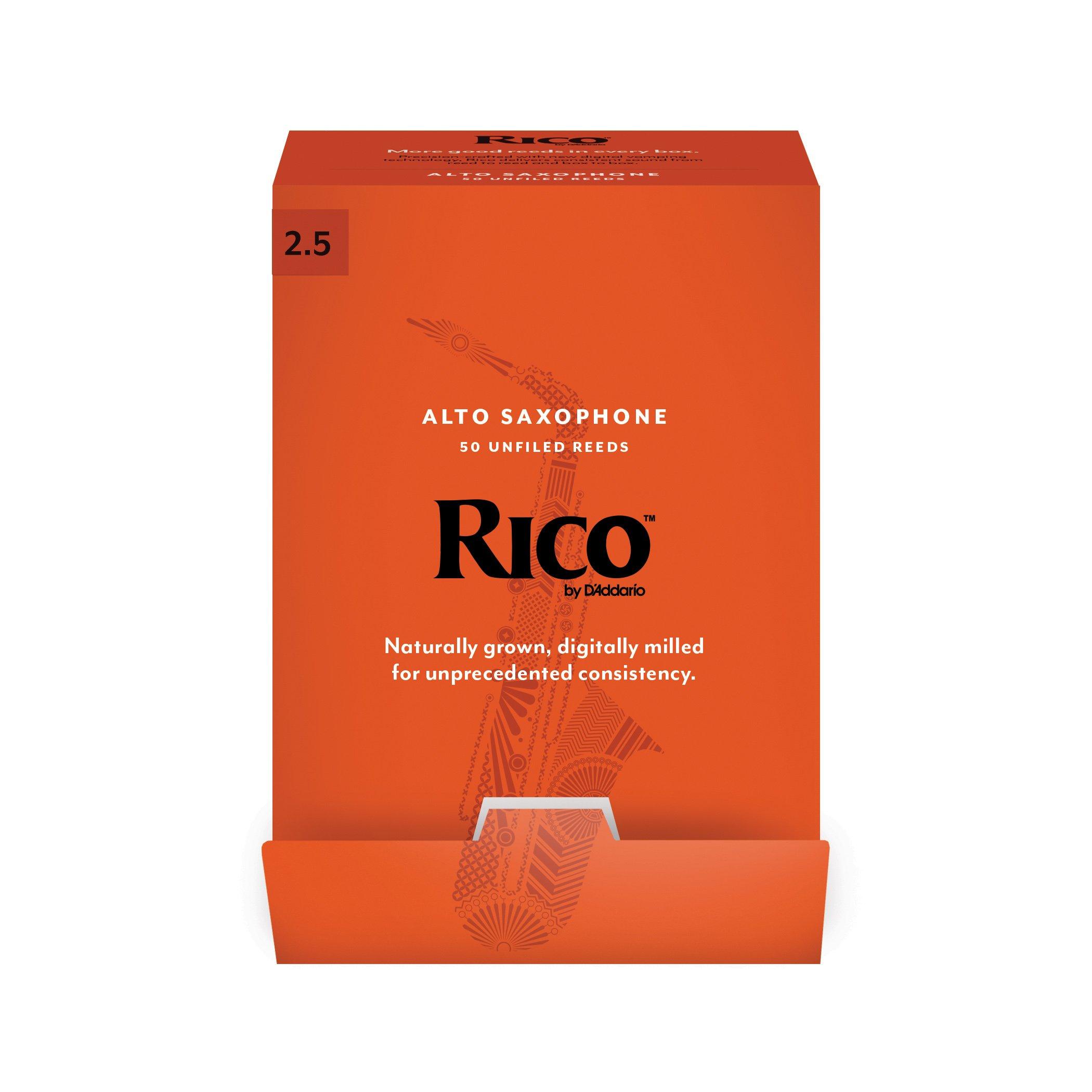 Rico 50 Reed Bulk Packs - Alto Sax (2.5)