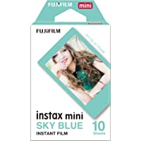 Instax Mini Blue Frame 10pk Film Suitable for Instax Mini Cameras Including 7S,25, 50S, 8, 70 & 90, Also Share Printer SP-2