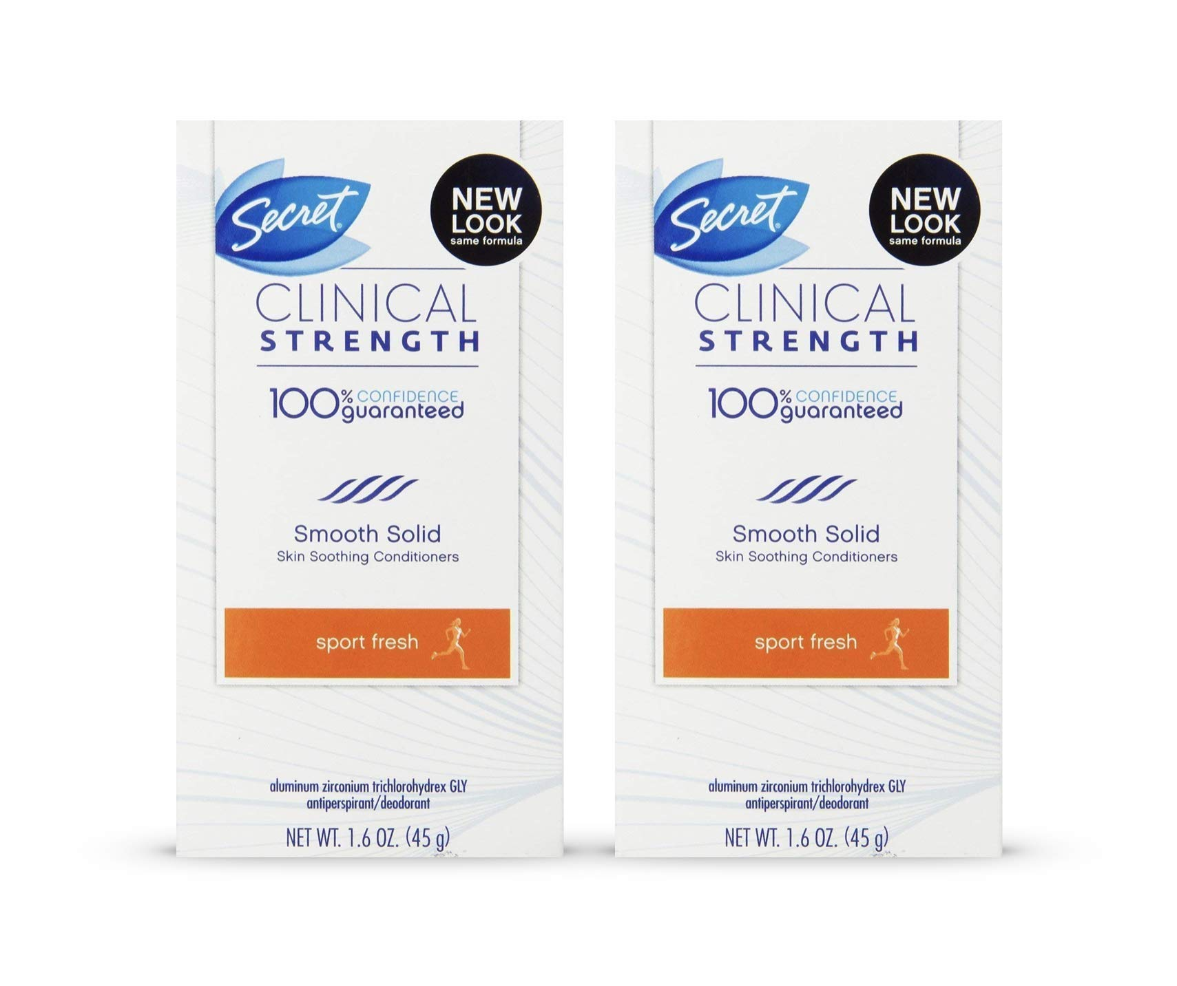 Secret Clinical Strength Sport Advanced Solid Antiperspirant & Deodorant Marathon Fresh Scent 1.6 Oz (Pack of 2)