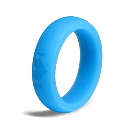 Amazon Com Silicone Wedding Rings For Women Perfect For Crossfit