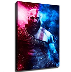 game poster God Of War Poster Picture Art Print Canvas Wall Art Home Living Room Decor Mural (20×27inch-No Framed)