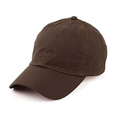 21369b40899882 Image Unavailable. Image not available for. Colour: Waxed Cotton Waterproof Baseball  Cap Antique Brown One Size ...