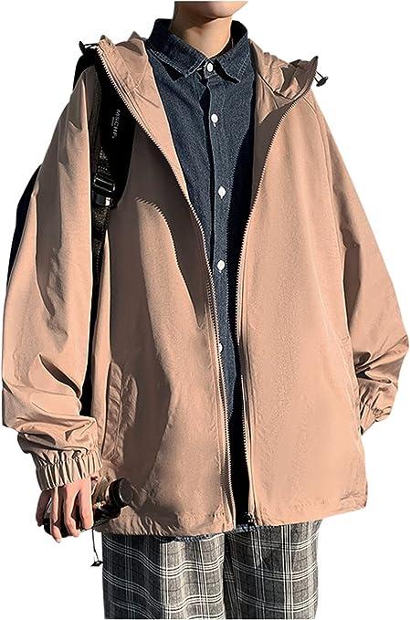 [ゴスファング] ジャケット マウンテンパーカー ウィンドブレーカー 偏光カラー 長袖 ポケット フード カジュアル 春 メンズ