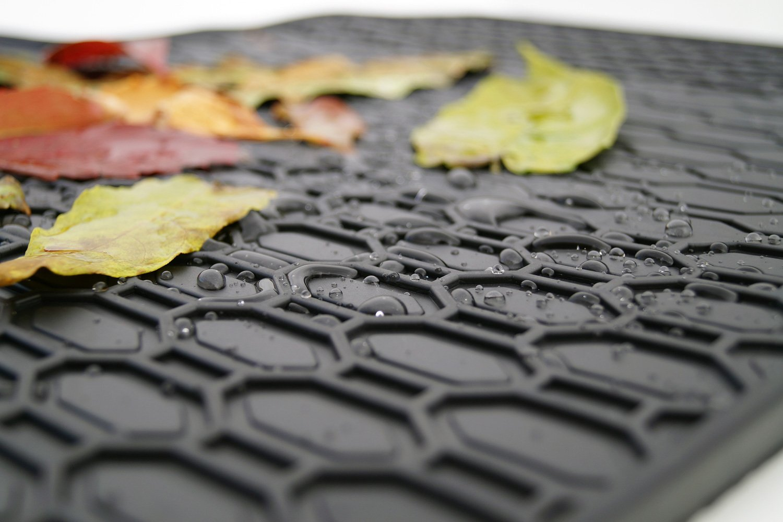 Gummimatten Original Qualit/ät Gummi Fu/ßmatten 4-teilig schwarz