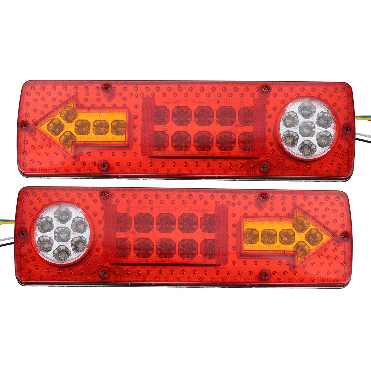 WINOMO luces traseras LED coche 12/V faros Direcci/ón y freno para remolque 2pcs