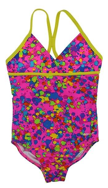 7f99a879c6 Amazon.com  Speedo Girls Pink One Piece Criss Cross Back Swimsuit (5 ...
