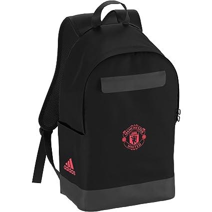adidas Manchester United Mochila, Unisex Adultos, (Negro/Rosbas), 36x24x45 cm