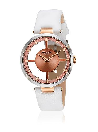 Kenneth Cole 10022538 - Reloj con correa de acero para mujer, color marrón/gris