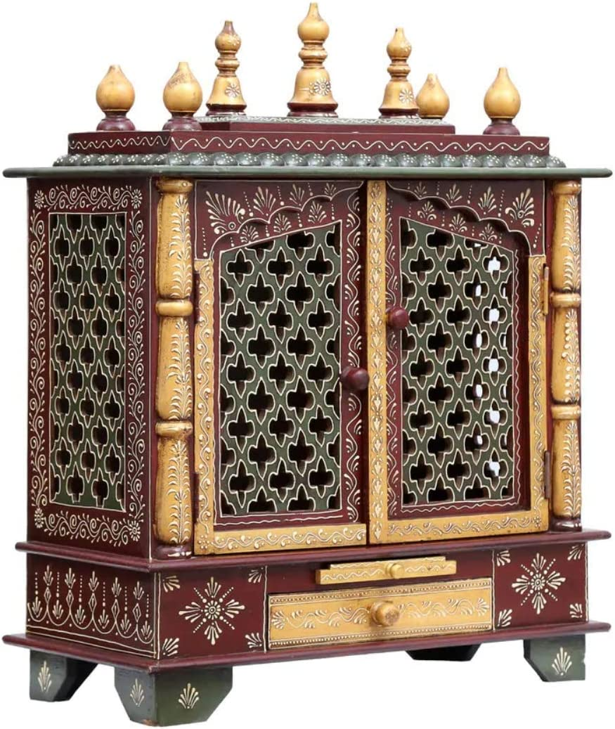 Wooden Temple Pooja Mandir for Home