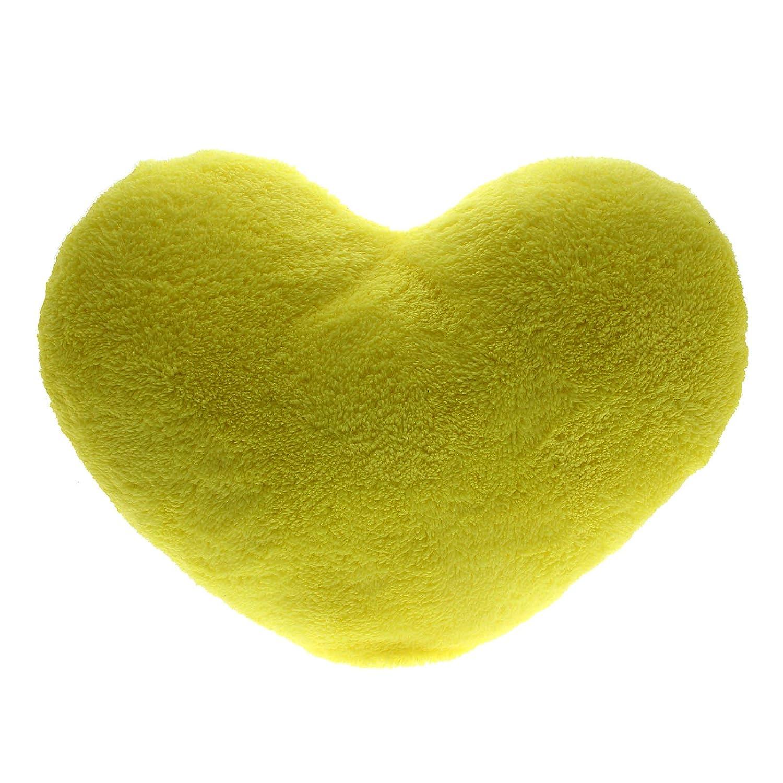 HuntGold 1X Almohadas Cojines Corazón del amor para Regalo (amarillo)