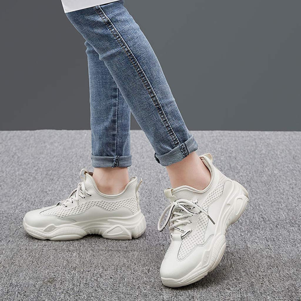 3c55a57d9433f Amazon.com: Wulofs Women's Mesh Breathable Casual Shoes Lightweight ...