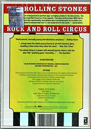 The Rolling Stones Rock And Roll Circus Clive Bunker Jethro Tull The Rolling Stones The Who John Lennon Marianne Faithfull Tony Iommi Ian Anderson Pete Townshend Keith Richards Ii Taj Mahal