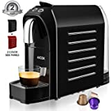 Espresso Machine for Nespresso Capsules, Coffee Machine Nespresso Bundle, 20 Bar High Pressure Pump, Programmable Buttons for Espresso and Lungo, 24 OZ, 1255W, Red & Black by Aicok