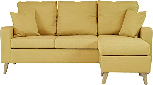 Amazon.com: Mid Century Modern Linen Fabric Small Space ...