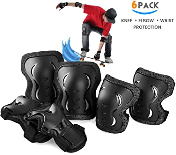 6-Pack skybulls Adult Youth Child Knee Pads Elbow Pads Wrist Guards