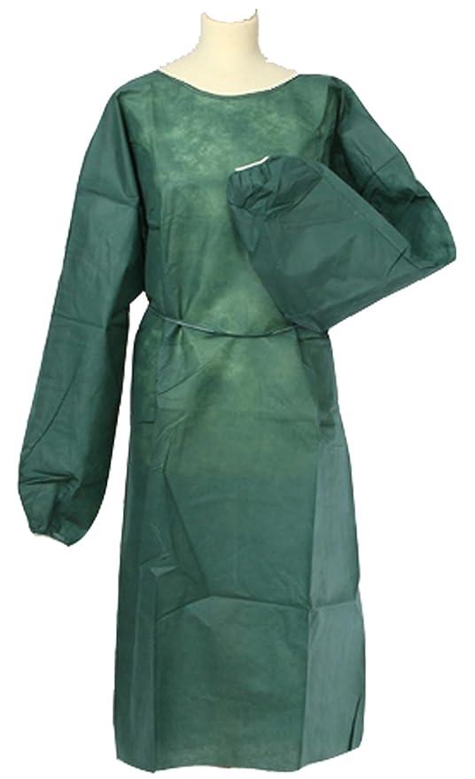 Vestidos sin tejer vestidos de protección batas desechables colour verde oscuro aproximadamente 50gr Dick 100 pcs Größe: 125 x 150 cm Vlies Besucherkittel ...