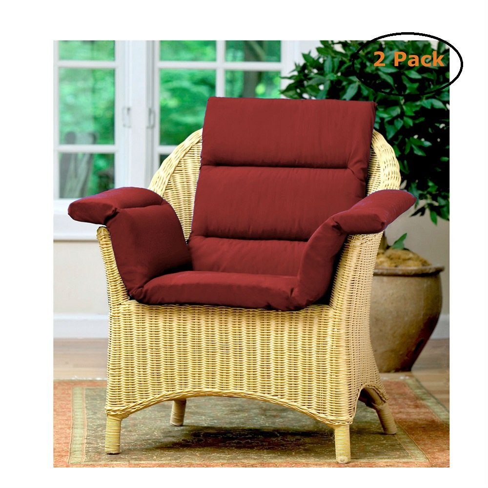 Total Chair Cushion Burgundy - Size -One Size - Pack of 2
