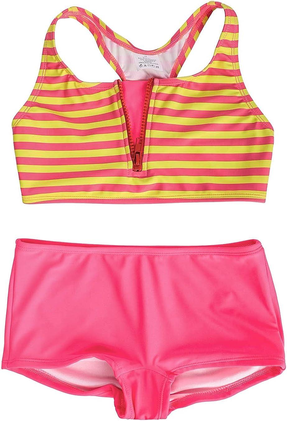 DAYU Girls Boyshort Tankini Swimwear Beach-Sport 2 Piece Swimsuit