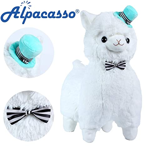 Amazon Com Alpacasso 17 White Plush Alpaca Cute Stuffed Animals