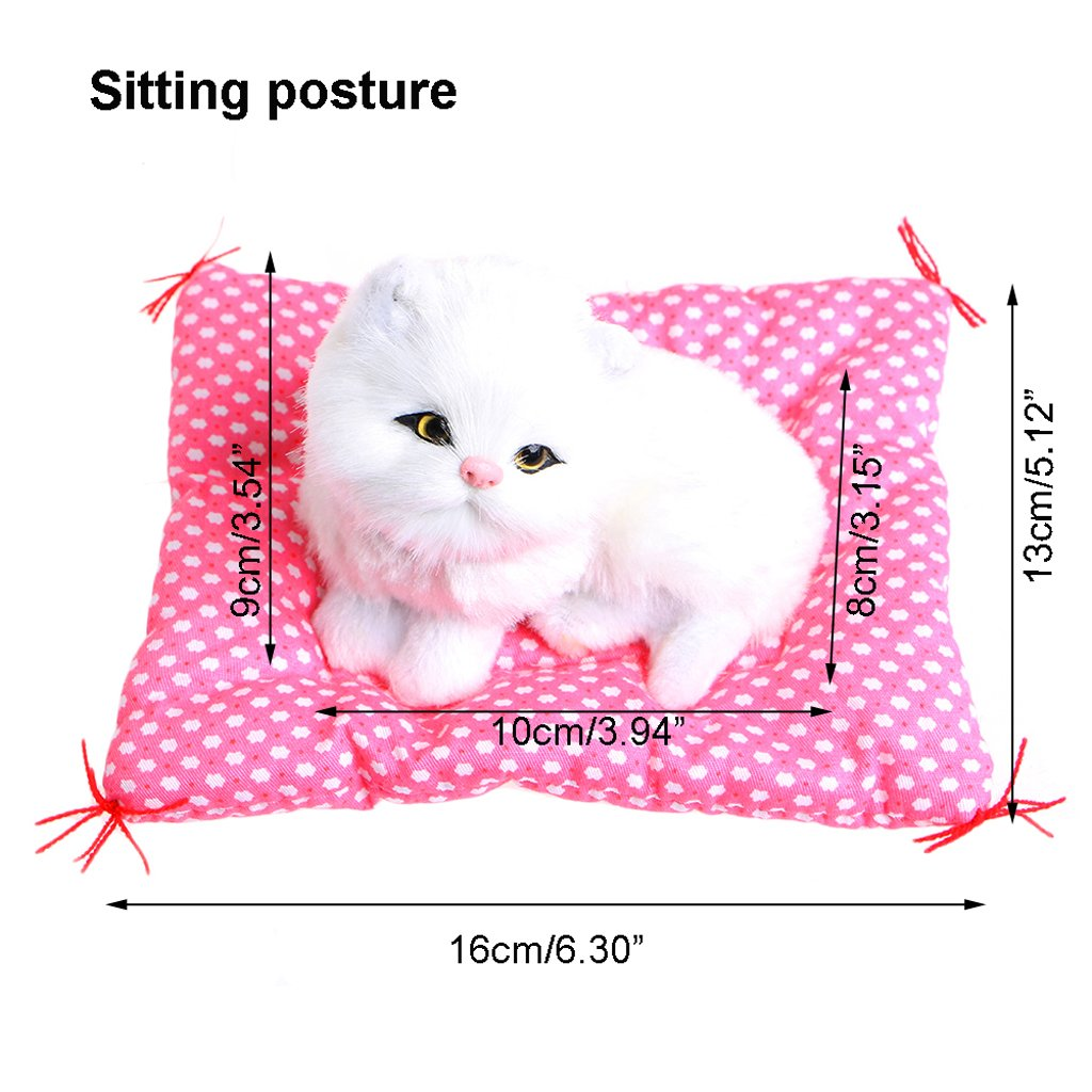 309235c226c0 Amazon.com: ONcemoRE Press Simulation Sound Animal Doll, Plush Stuffed Toy  Cute Sleeping Cat for Kids Children - White: Toys & Games